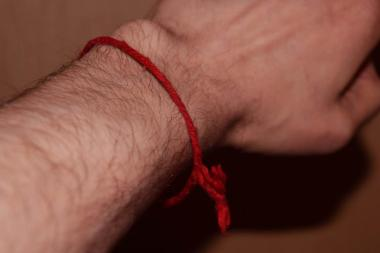Kever Rachel red string
